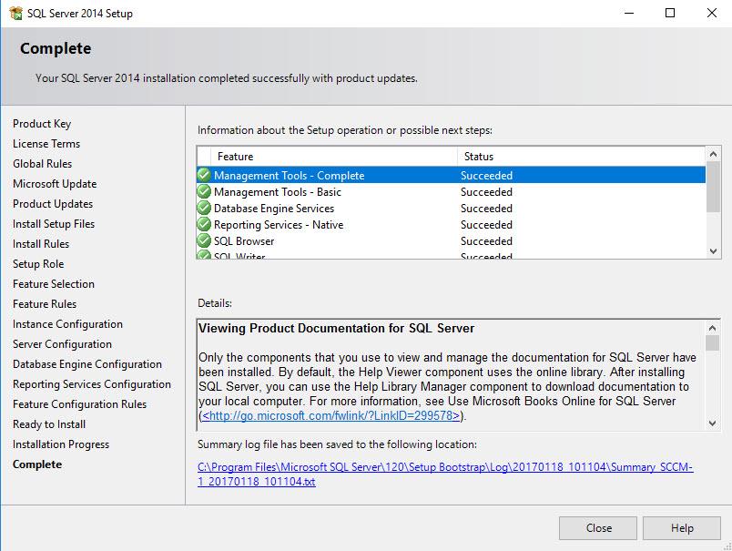 Install SQL for SCCM - 10
