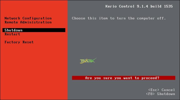 Configure Kerio Control
