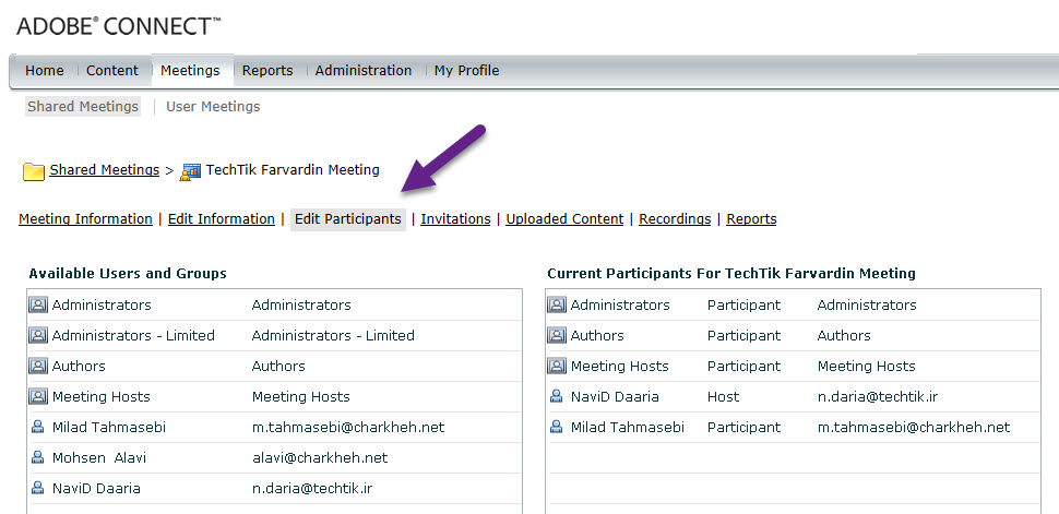 Users and Groups in Adobe Connect - 1