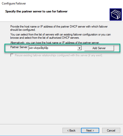 DHCP Failover Relationship
