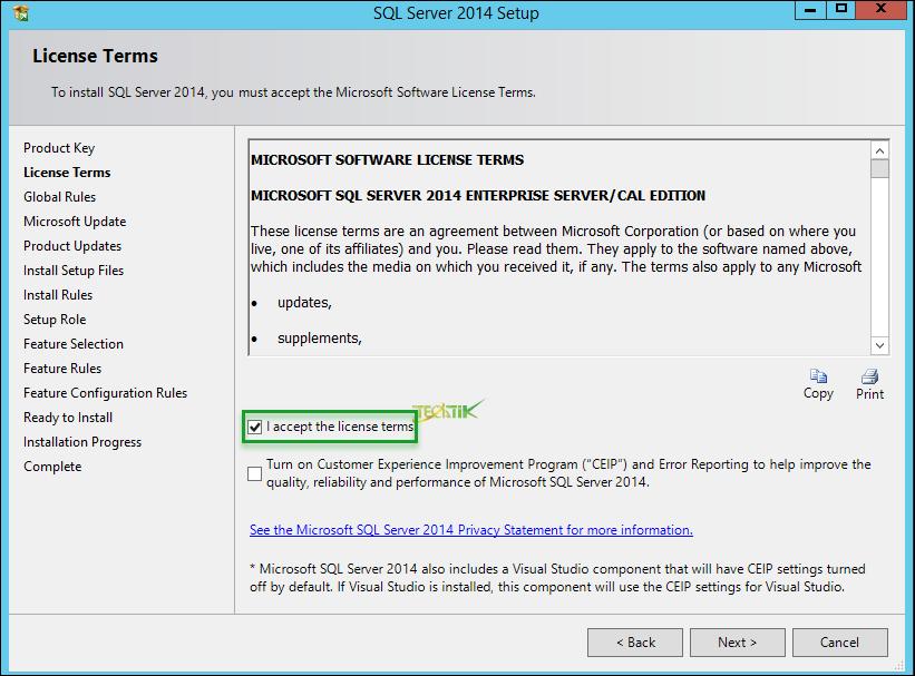 Install SQL