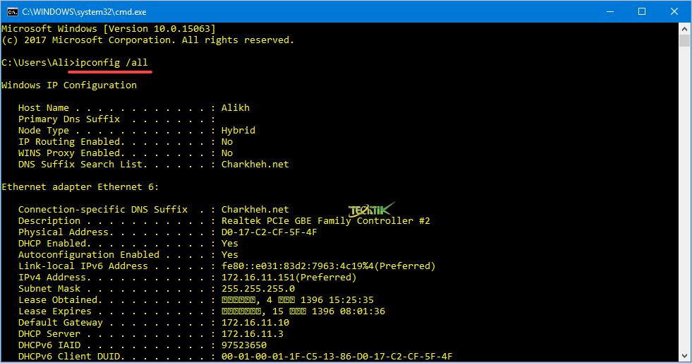 Command TCP