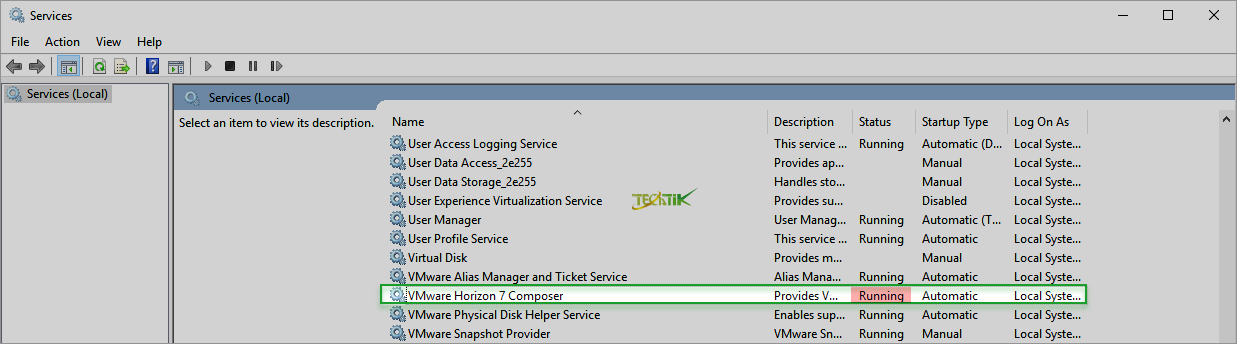 install VMware View Composer