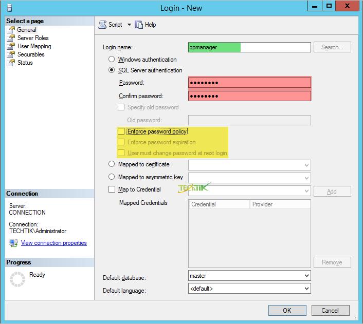 install database SQL Server