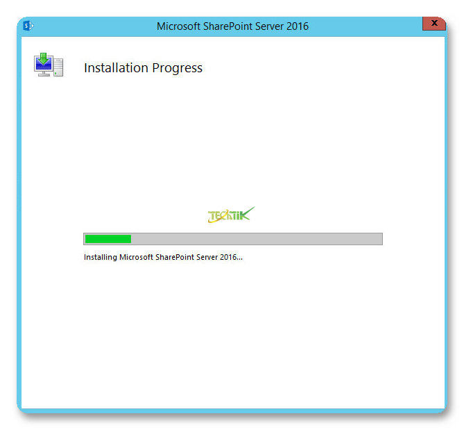 Install SharePoint 2016