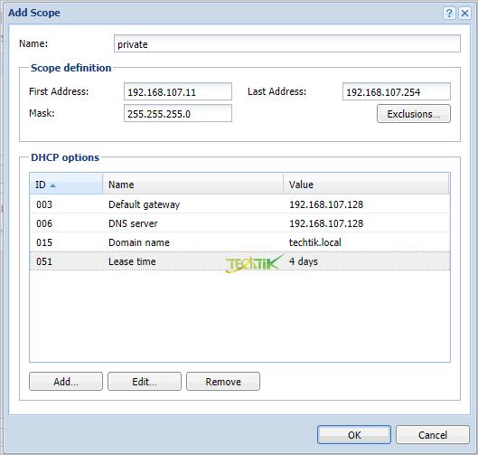 DHCP Kerio Control