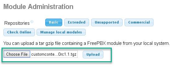 Install Module in Elastix 3