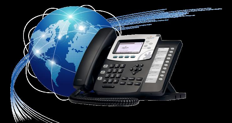 تصویر از برقراری ارتباط VoIP بین شعب مختلف از طریق ترانکِ SIP