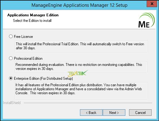 نحوه نصب نرم افزار Manage Engine OpManager (نسخه مرکزی)