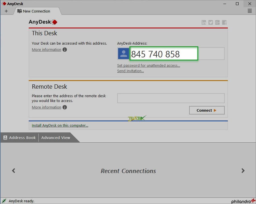 آموزش نرم افزار AnyDesk
