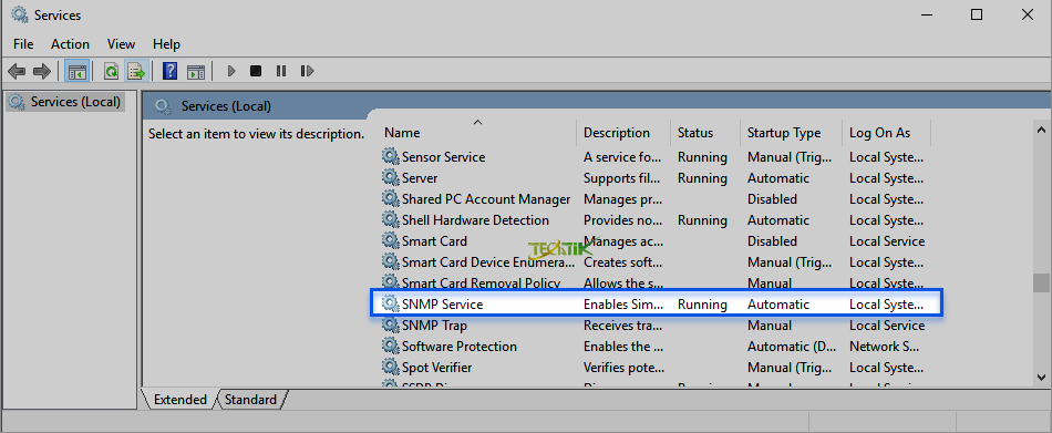 Enable SNMP