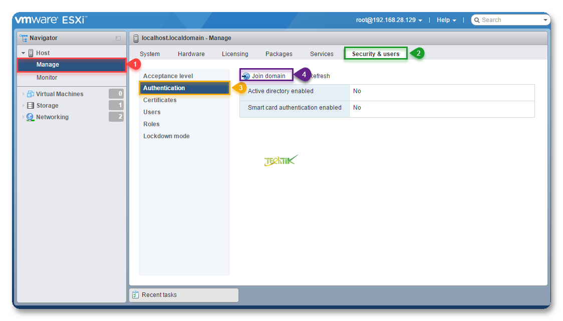 Join ESXI To Active Directory