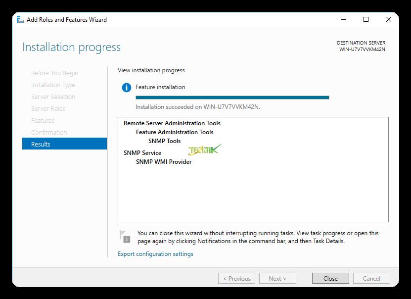 Enable SMTP on WIndows Server 2016