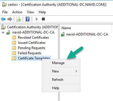 Create a Server Authentication Certificate 1