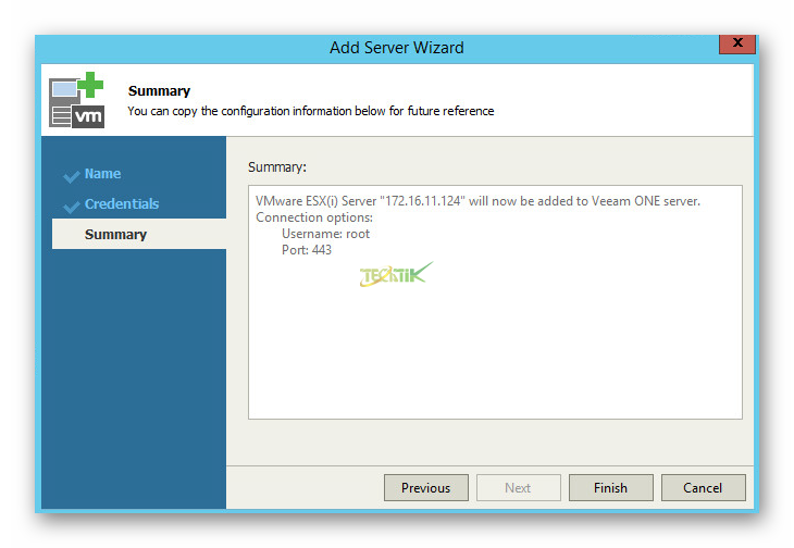 Add Server Veeam One
