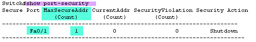 ۴- SwitchPort Security 3