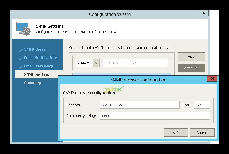 SMTP Veeam ONE