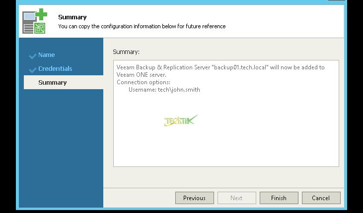 add Veeam Backup to Veeam ONE (5)