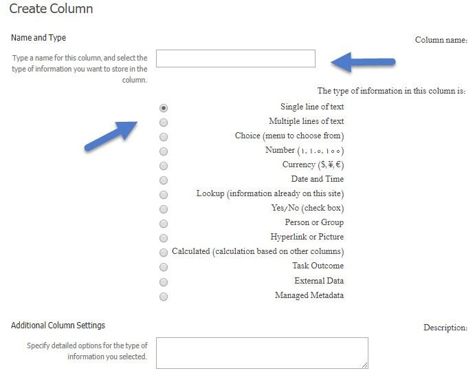ایجاد ستون در لیست شیرپوینتی