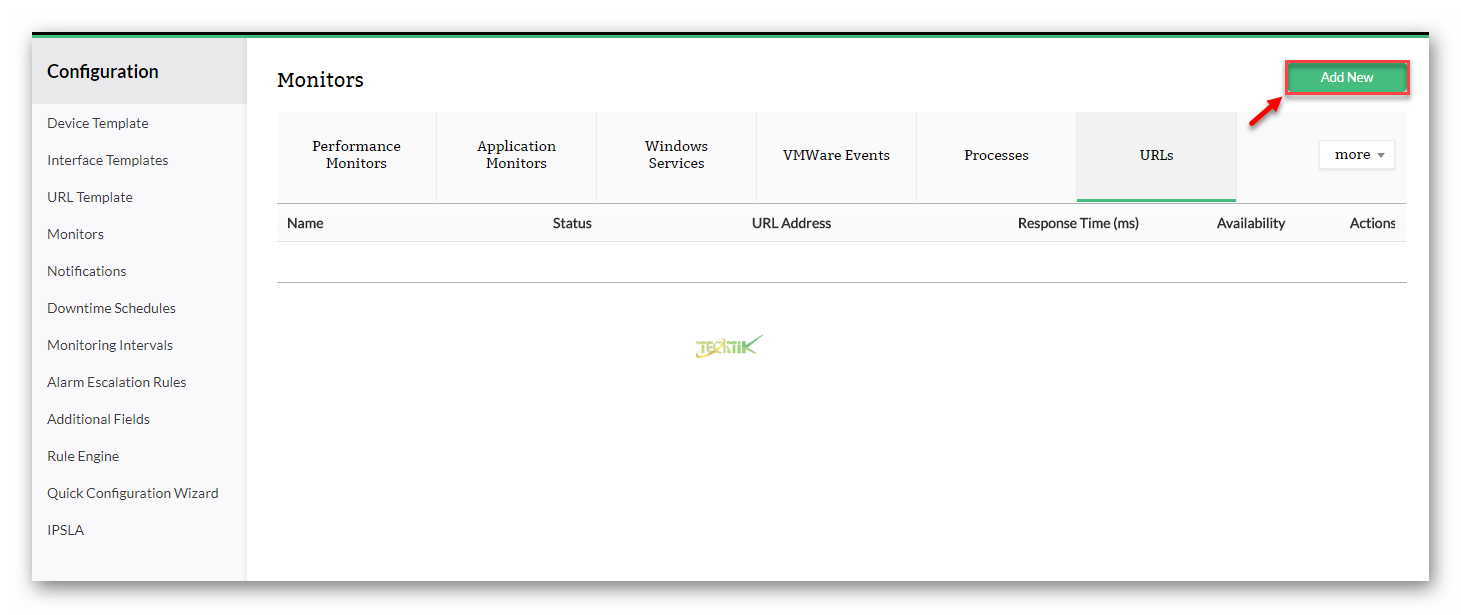 URL Monitoring OpManager