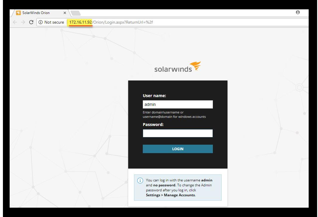 change Port SolarWind