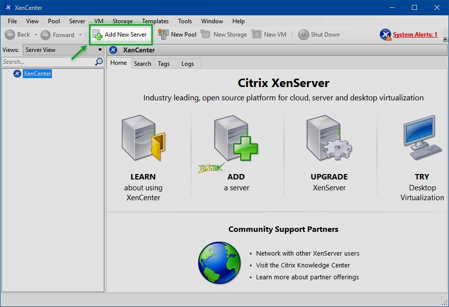 Add Server XenServer