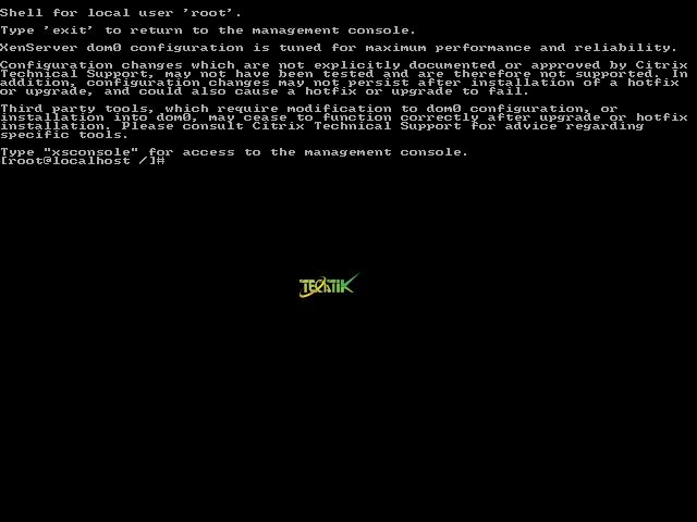 Console XenServer