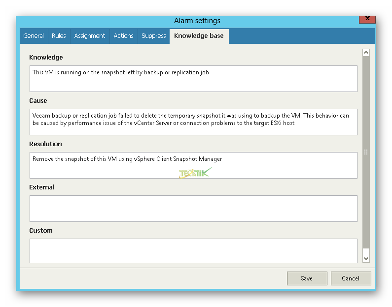 Create Alarm Veeam One