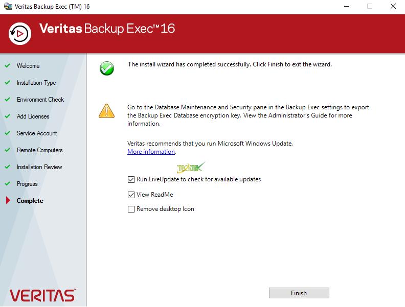 Install Veritas Backup Exec