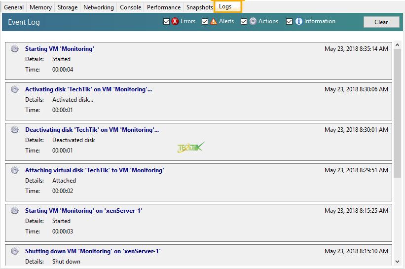 Manage VM XenServer