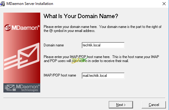 Install MDaemon