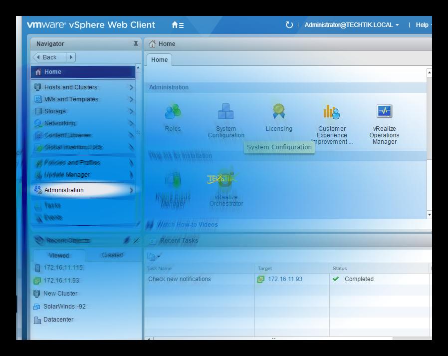 تصویر از نحوه ایجاد نقش جدید در کنترل دسترسی vCenter