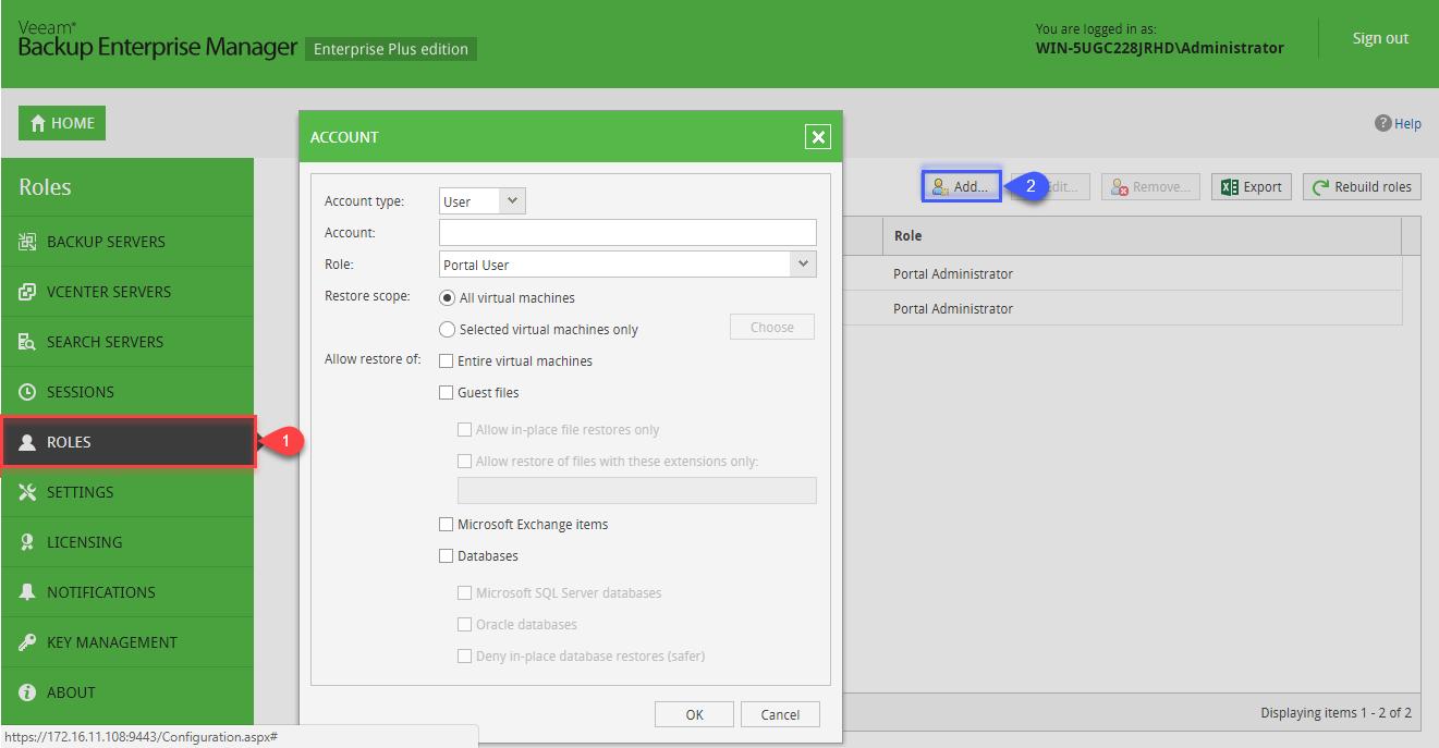 Veeam Backup Enterprise Manager