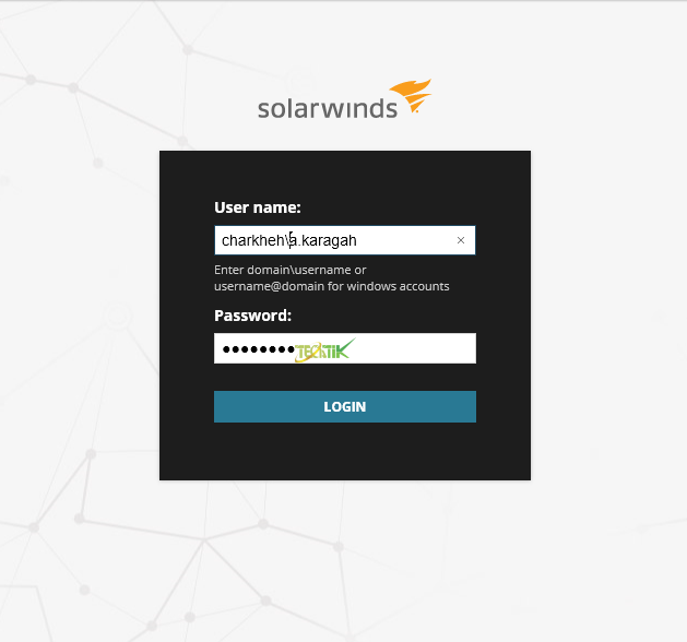 join Solarwinds to Active Directory