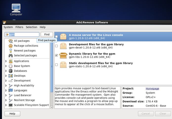 نصب نرم افزار در لینوکس سنت او اس