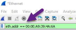 فیلتر MAC در وایرشارک