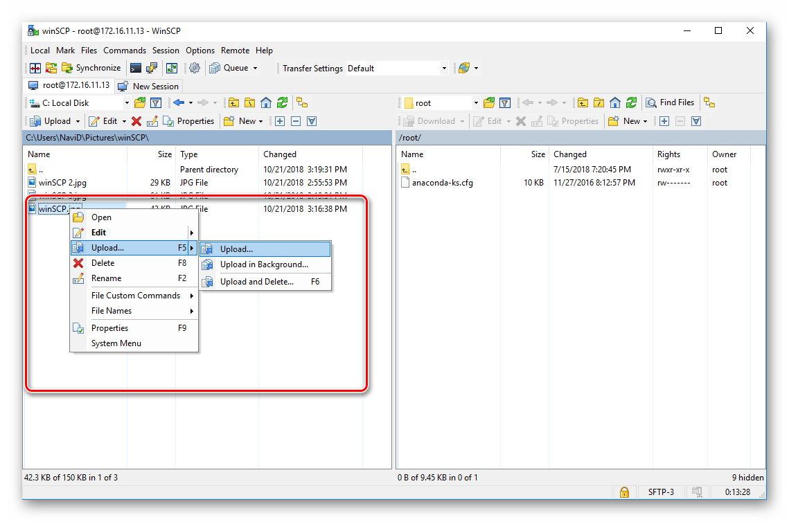 انتقال فایل از طریق winSCP بین ویندوز و لینوکس