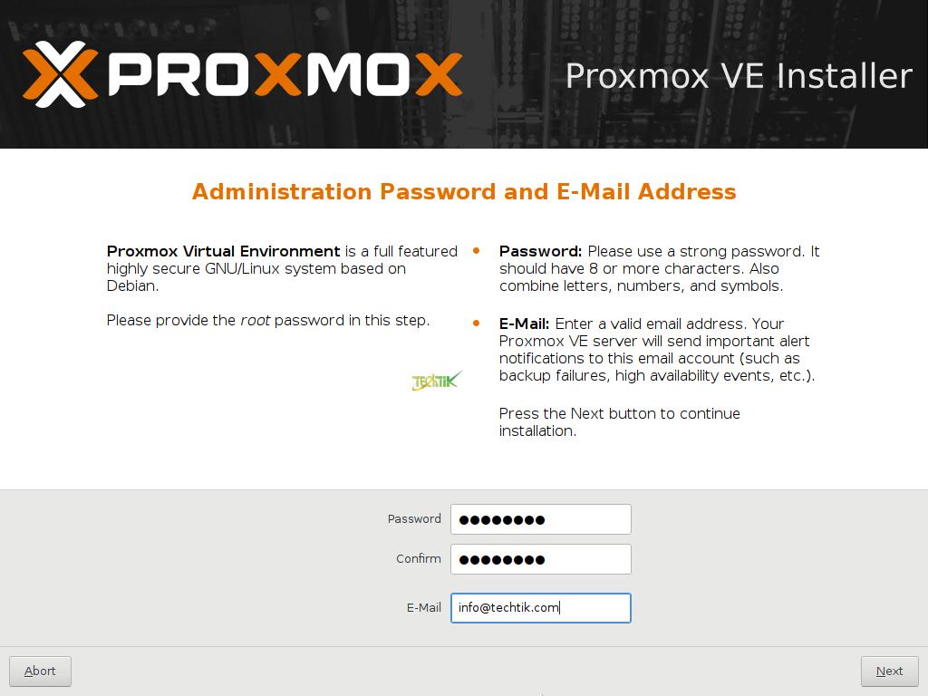 Install Proxmox