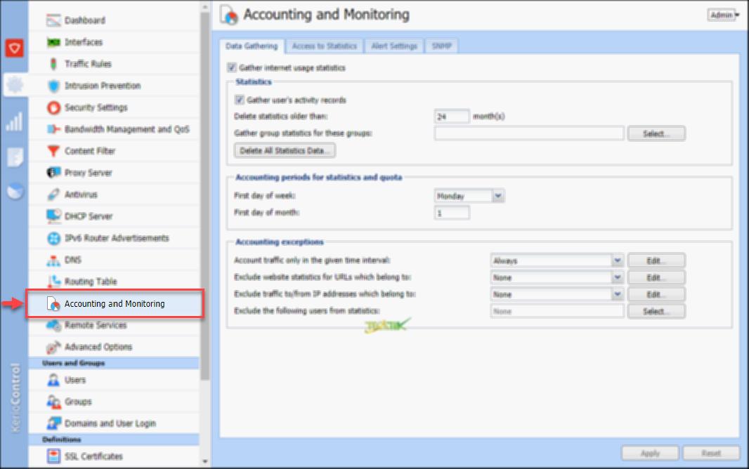 Account and Monitoring