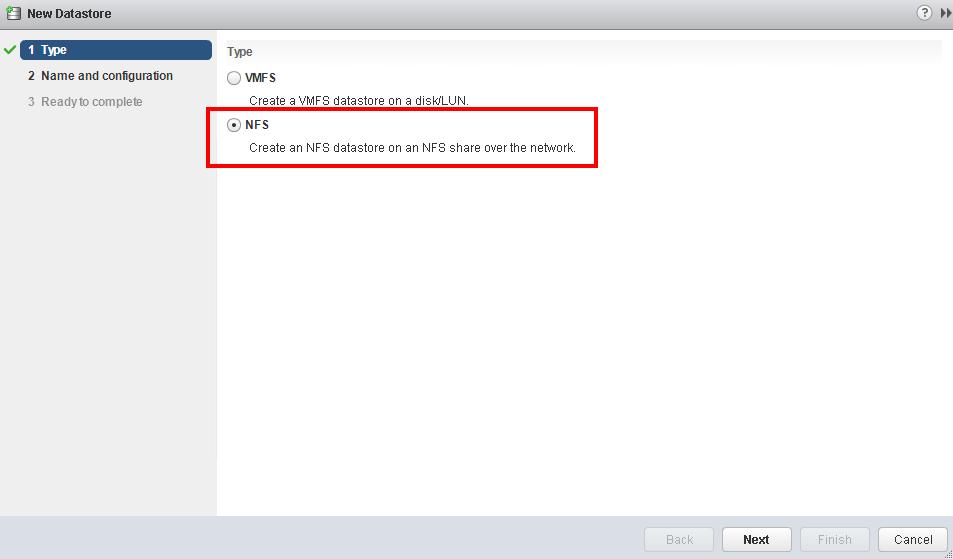 افزودن NFS Target به عنوان دیتااستور با استفاده از VMware Web Client 6.X در Vmware vCenter