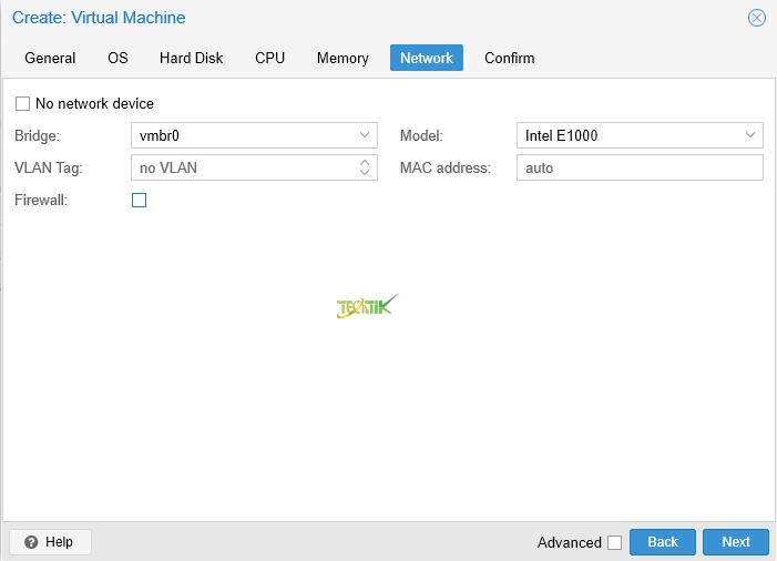 Create VM ProxMox