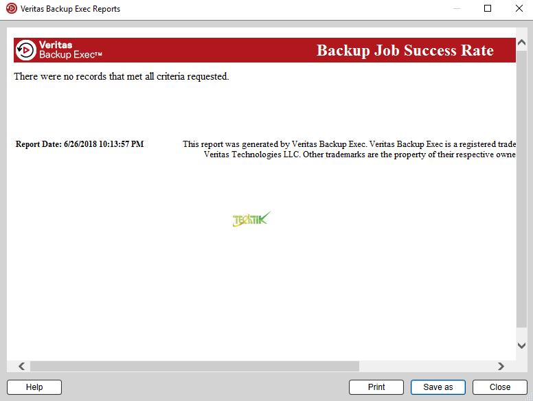 Report Backup Exec