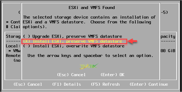 Reset Password ESXI