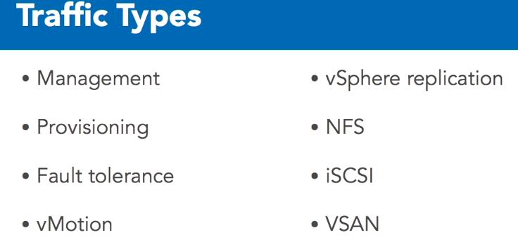ترافیک های شبکه در VMware ESXi