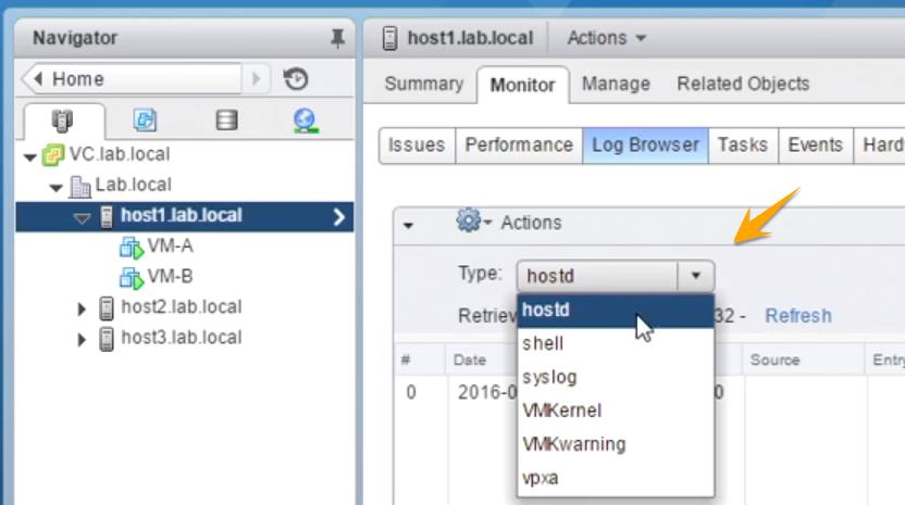 لاگ فایل های مهم ESXi و نحوه دسترسی به آن ها در محیط وب کلاینت