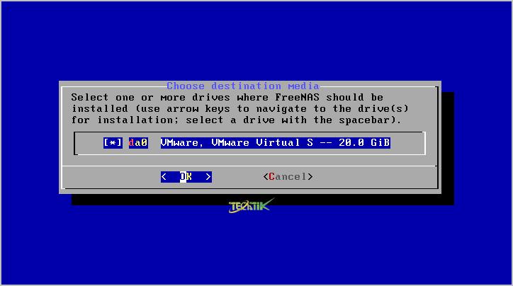 Install FreeNAS