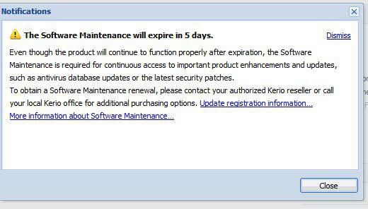Software Maintenance expiration