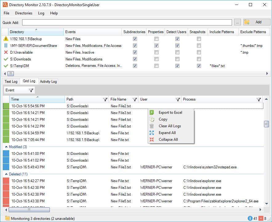 تصویر از دانلود Directory Monitor Pro 2.13.0.3 نظارت و کنترل دایرکتوری
