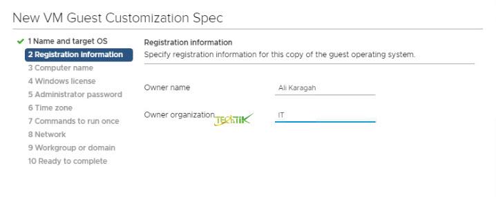 Registration-information