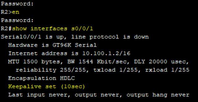 توقف ارسال پیام های Keepalive بین دو اینترفیس سریال در روترهای سیسکو